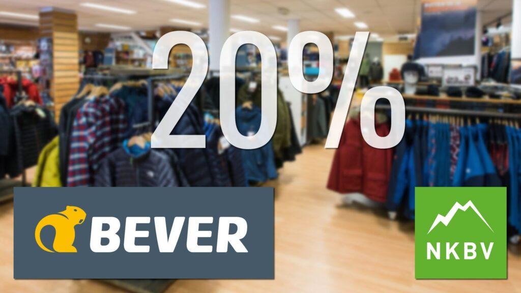 NKBV-Koopavond korting bij Bever met 20% korting