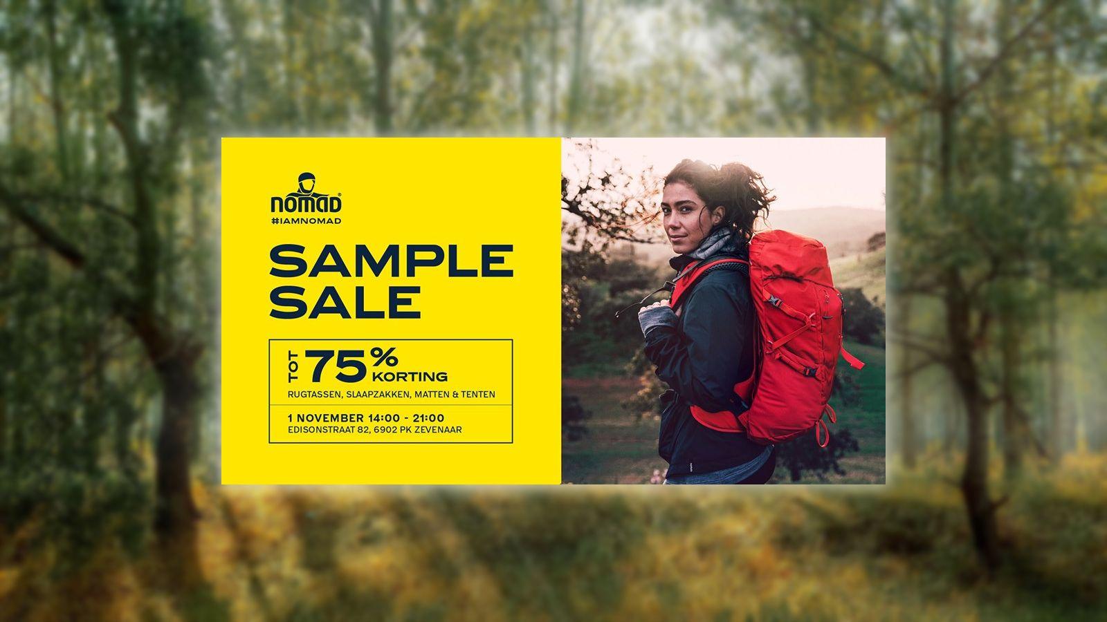 Nomad sample sale november 10`9