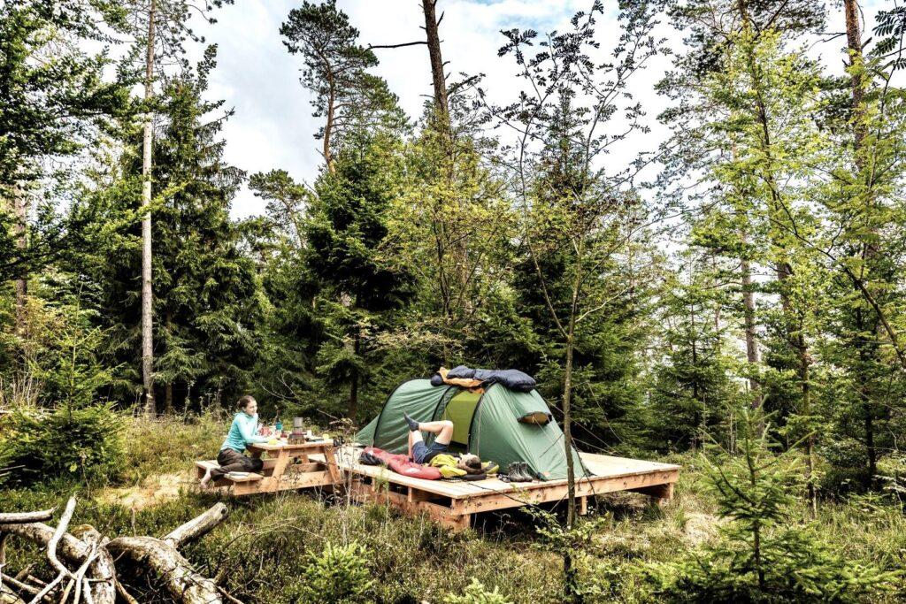 Trekkingplatze Duitsland Eifel Sauerland wildkamperen hiken trekking kampeerplek tent bivak